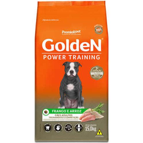 Ração Golden Power Training Cães Adultos Frango e Arroz - 15 Kg