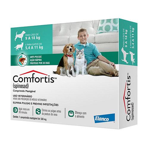 Antipulgas Elanco Comfortis 560 mg - Cães de 9 a 18Kg e Gatos de 5,5 a 11Kg