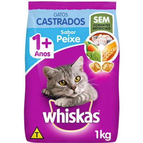 Ração WHISKAS para Gatos Castrados Sabor Peixe