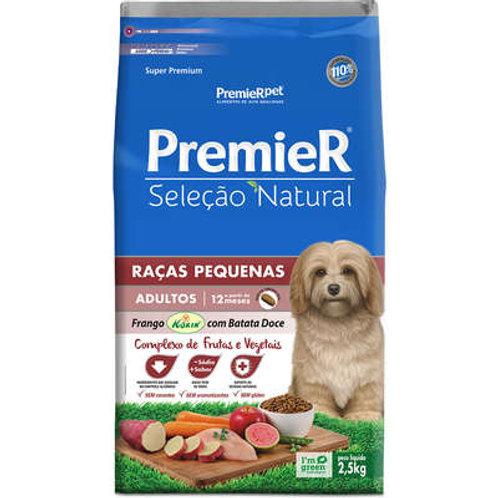 Ração Premier Seleção Natural Cães Adultos Raças Pequenas Batata Doce - 2,5 KG