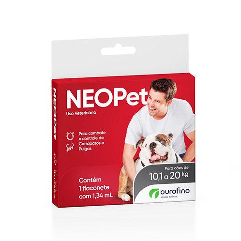 Antipulgas e Carrapatos Neopet 1,34ml Cães 10,1 a 20Kg Ourofino