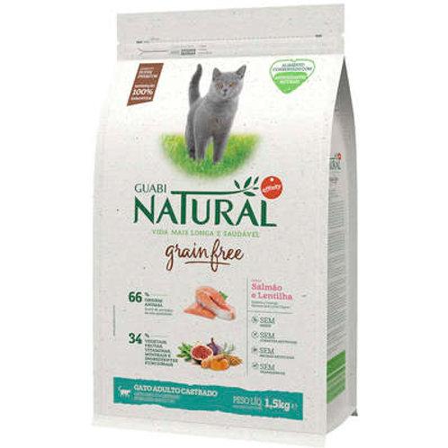 Ração Guabi Natural Grain Free Salmão e Lentilha para Gatos Castrados