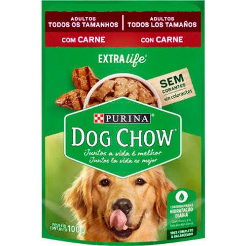 Sachê Dog Chow para Cães Adultos Todos os Tamanhos Sabor Carne