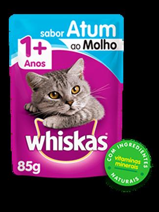 Sachê WHISKAS  para Gatos Adulto Sabor Atum ao Molho - 85 G