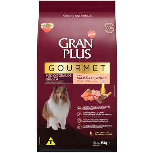 Ração GRANPLUS Gourmet Cães Adultos Médio e Grande Porte Salmão & Frango 15 kg