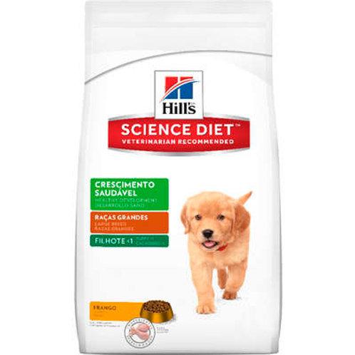Ração Hill's Science Diet Filhotes Crescimento Saudável Raças Grandes - 7.5 Kg