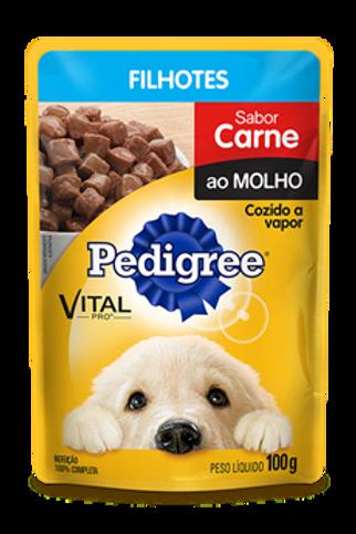 Sachê Pedigree Filhotes Sabor Carne ao Molho - 100 G