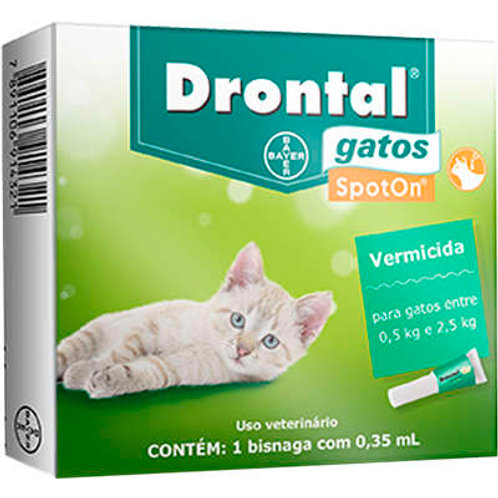 Vermífugo para Gatos Drontal Spot On 0,5kg a 2,5kg Bayer