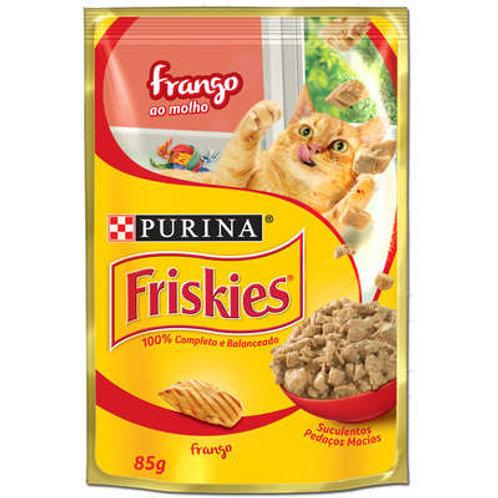 Sachê Purina Friskies para Gatos Adultos - Frango ao Molho