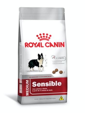 Ração Royal Canin Medium Sensible Adulto - 15 Kg