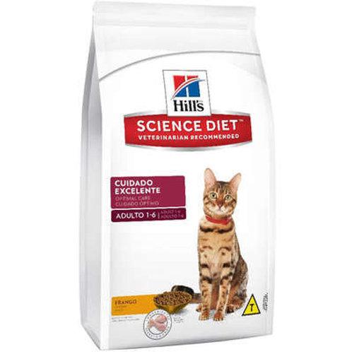 Ração Seca Hill's Science Diet Sabor Frango para Gatos Adultos