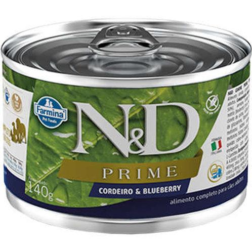 Ração Úmida Lata Farmina N&D Prime Cordeiro & Blueberry para Cães Adultos