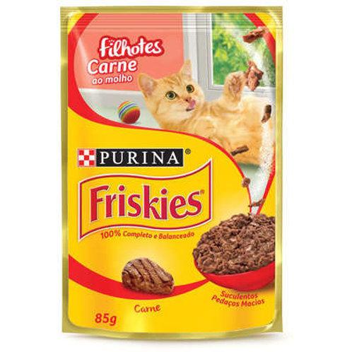 Sachê Purina Friskies para Gatos Filhotes - Carne ao molho