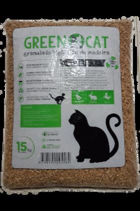 Green Cat Granulado Madeira - 15 kg