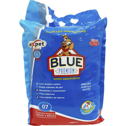 Tapete Higiênico Blue Premium Expet - 7 Unidades