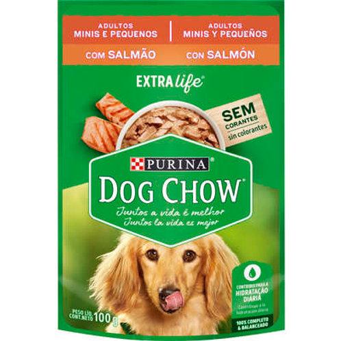Sachê Dog Chow para Cães Adultos Mini e Pequeno Porte Sabor Salmão