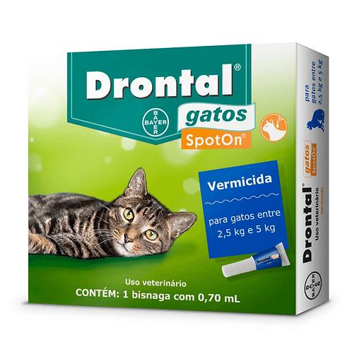 Drontal Spoton Vermífugo Para Gatos De 2,5kg A 5kg