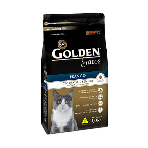 Ração Golden para Gatos Adultos Castrados Senior