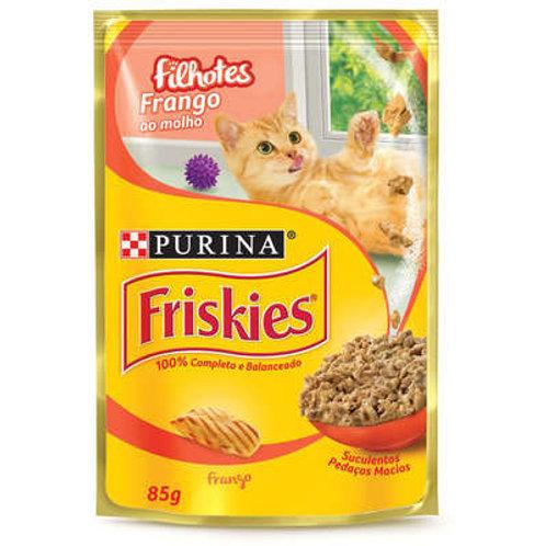 Sachê Purina Friskies para Gatos Filhotes Frango ao Molho