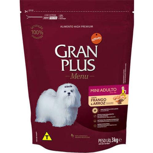 Ração GRANPLUS Menu para Cães Adultos MINI Sabor Carne & Arroz