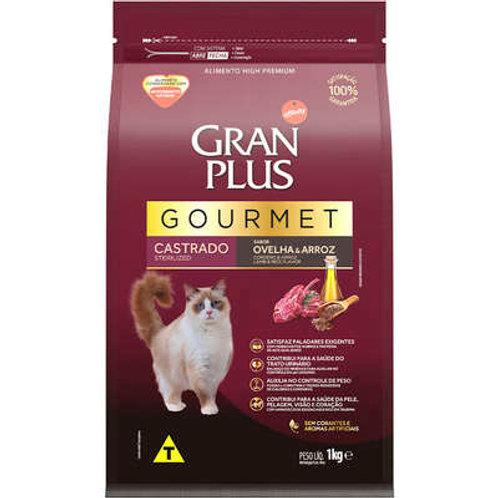 Ração GRANPLUS Gourmet para Gatos Castrados Sabor Ovelha & Arroz