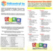 Child Care brochure with KidCentral Webs