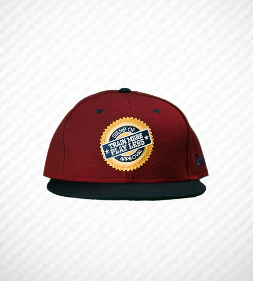"""TRAIN MORE PLAY LESS SEAL Hat """"Maroon"""""""