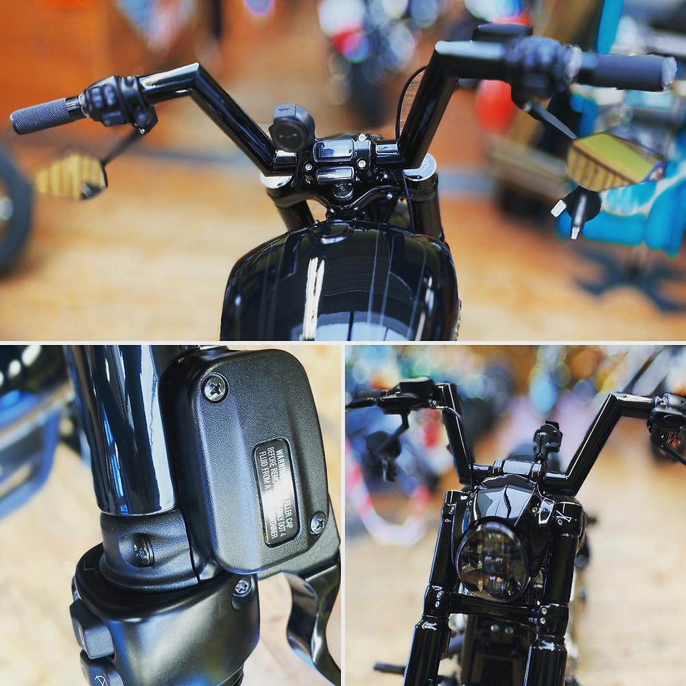 Harley Davidson Umkbau Lenker, Sonderanfertigung, Handarbeit, Breakout, Softail