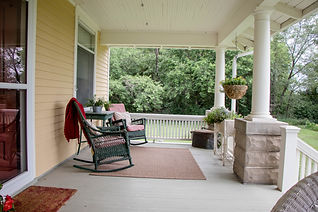 Photo of front porch sitting area two
