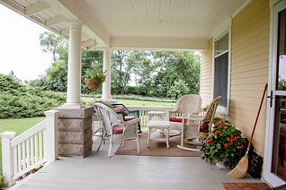Photo of front porch sitting area