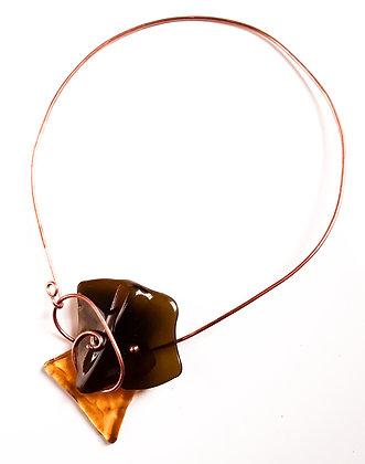 Gold/Black Fused Necklace