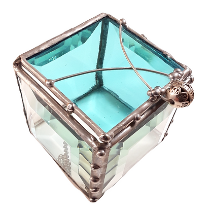 Turquoise Glass  Box