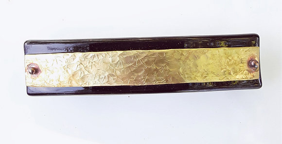 Large Black Glass Hair Clip