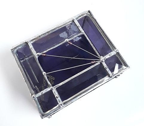 Trasparent Purple Glass Box
