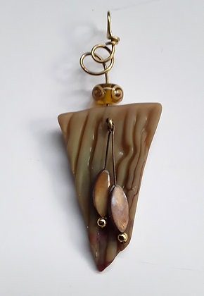 Tumbled Brown Glass Pendants