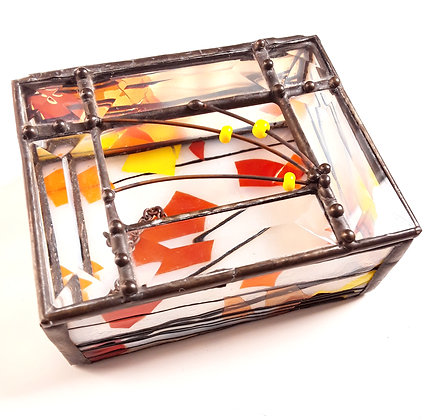 Variegated  Glass Box
