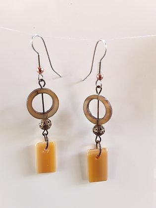 Gold Glass Earrings