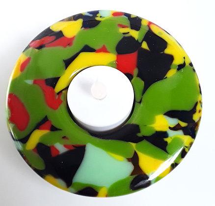 Multi Colored Glass Votive Holder