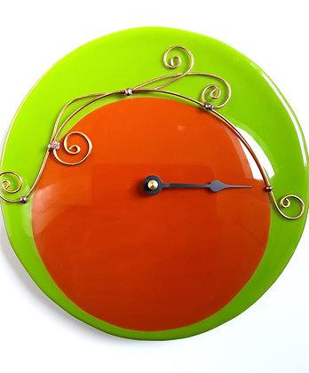 Green/Burnt Orange Tide Clock