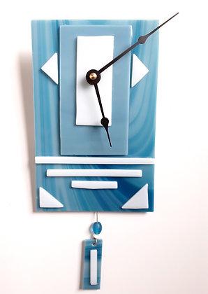 Turquoise Glass Pendulum Clock