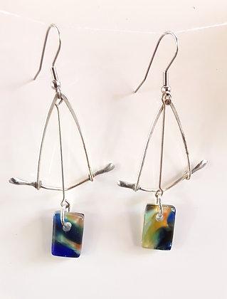 Multi-colored Glass Earrings