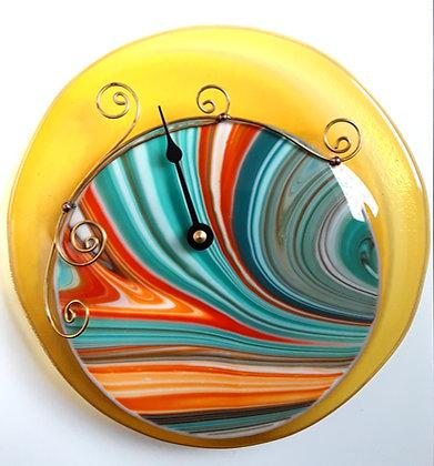 Transparent Gold and Multi Tide Clock