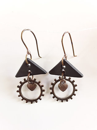 Black Glass Earrings