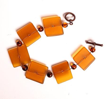 Transparent Gold Woven Bracelet