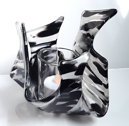 Black/Clear/White Votice Candle Holder