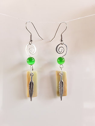 Multi-colored Glass Earrings