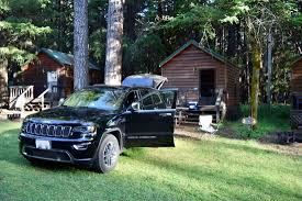 Small cabin with Jeep
