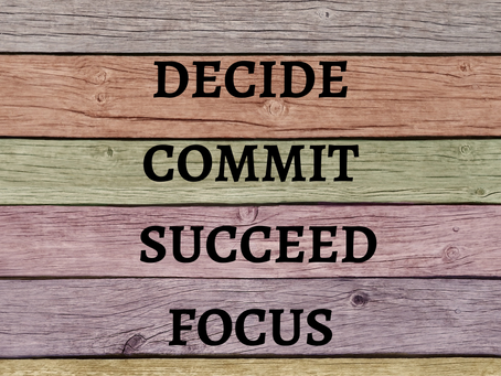 Commitment and success strategies for your personal life