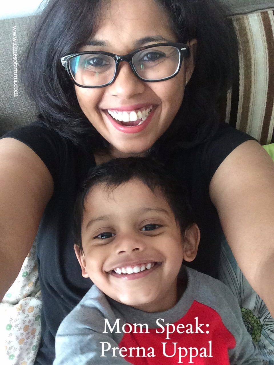Prerna Uppal and her son for the Times Of Amma