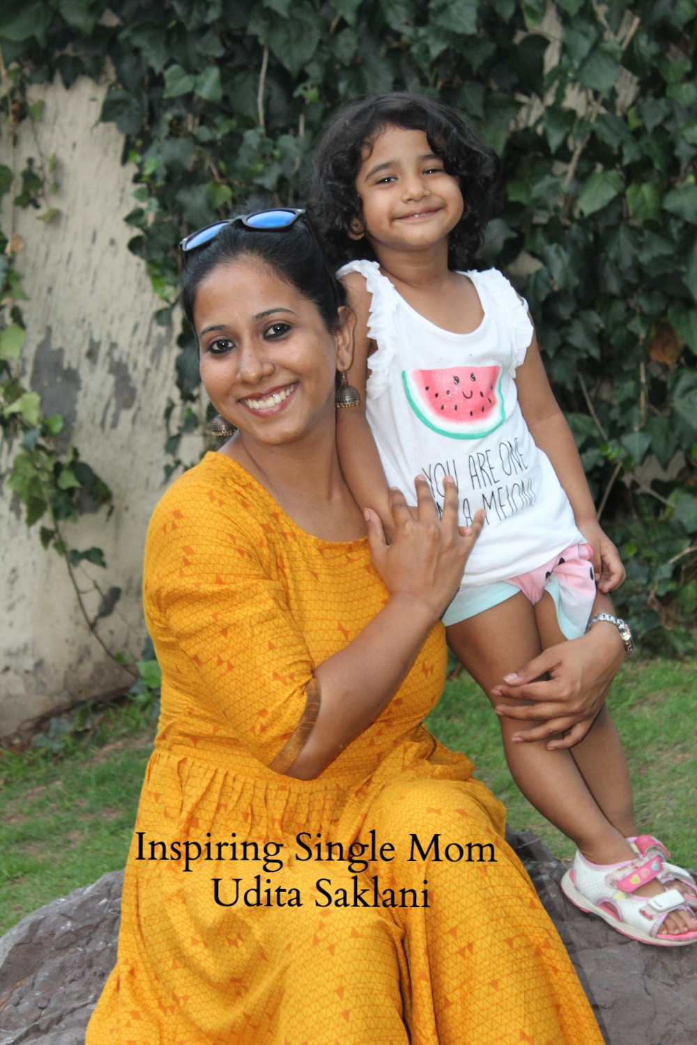 Udita Saklani and her daughter featured on the Times Of Amma